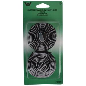 Velcro/Gribebånd Rondeller Selvklæbende Sort 20mm - 50 stk
