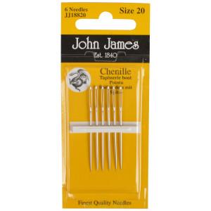 John James Stramajnåle med Spids Str. 20 - 6 stk