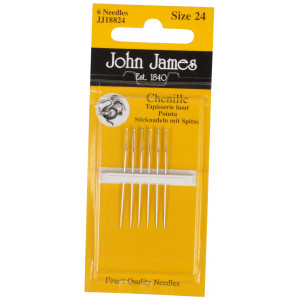 John James Stramajnåle med Spids Str. 24 - 6 stk