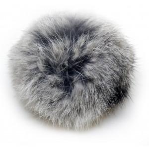 Pompon Dusk Kaninhår Grå 100 mm