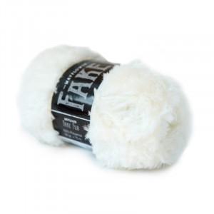 Mayflower Fake Fur Garn Unicolor 05 Hvid