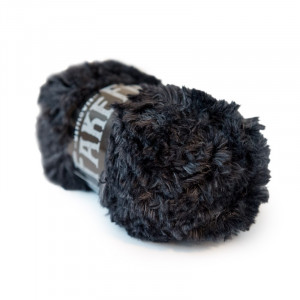 Mayflower Fake Fur Garn Unicolor 08 Sort