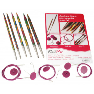 KnitPro Symfonie Begynnersett Utskiftbare Rundpinner str. 4-6 mm 3 lengder