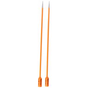 Knit Lite Strikkepinner / Jumperpinner med lys 33cm 5,00mm / 13in US8 Oransje