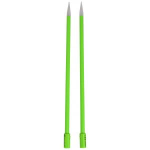 Knit Lite Strikkepinner / Jumperpinner med lys 36cm 10,00mm / 14in US15 Grønn