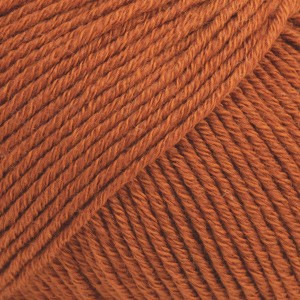 Drops Cotton Merino Garn Unicolor 25 Rust