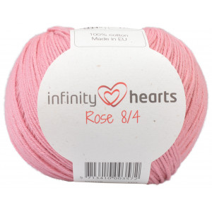 Infinity Hearts Rose 8/4 Garn Unicolor 27 Lys Gammelrosa