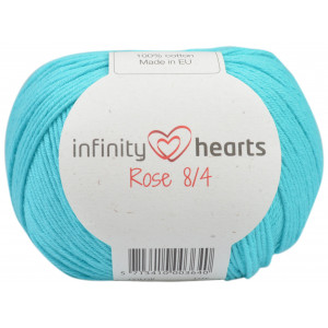 Infinity Hearts Rose 8/4 Garn Unicolor 130 Lys Turkis