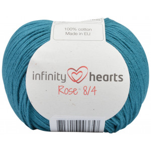 Infinity Hearts Rose 8/4 Garn Unicolor 132 Petrol