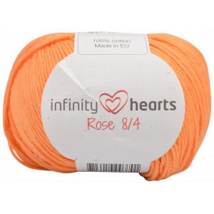 Infinity Hearts Rose 8/4 Garn Unicolor 192 Lys Oransje