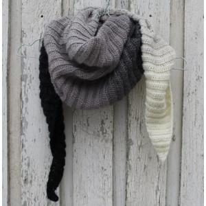 Sjal av Louise Grarup - Sjal Hekleoppskrift 165cm