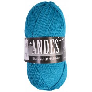 Mayflower Andes Garn Unicolor 14 Lys Petrol