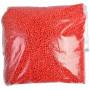 Plasthagl / Plastgranulat / Dukkefyll Rød 500g