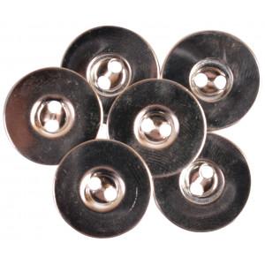 Magnet Knapper til påsying Sølv 18mm - 3 stk