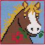 Permin Broderisett Påtegnet Stramei til Barn Hest 25x25cm