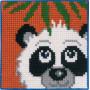 Permin Broderisett Påtegnet Stramei til Barn Panda 25x25cm