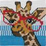 Permin Broderisett Påtegnet Stramei til Barn Giraff 25x25cm
