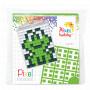 Pixelhobby Gaveeske Nøkkelringsett Frosk 3x4cm