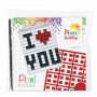Pixelhobby Gaveeske Nøkkelringsett I Love You 3x4cm