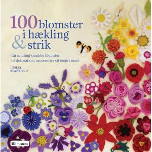 100 blomster i hækling og strik - Bok av Lesley Stanfield