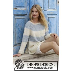 Sailor's Luckby DROPS Design - Bluse Strikkeoppskrift str. S - XXXL
