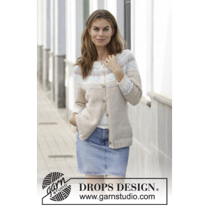 Nougat Cardigan by DROPS Design - Jakke Strikkeoppskrift str. S - XXXL