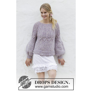 Fair Lily by DROPS Design - Bluse Strikkeoppskrift str. S - XXXL