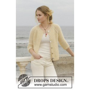 Le Conquet by DROPS Design - Jakke Strikkeoppskrift str. XS - XXXL