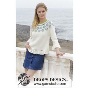 Myosotisby DROPS Design - Bluse Strikkeopskrift str. S - XXXL