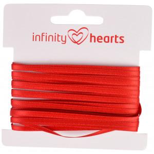 Infinity Hearts Satengbånd Dobbeltsidig 3mm 250 Rød - 5m