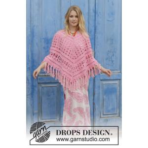 Mamma Miaby DROPS Design - Poncho Hekleoppskrift str. S - XXXL