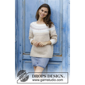 Nougat by DROPS Design - Bluse Strikkeoppskrift str. S - XXXL
