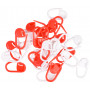 Infinity Hearts Maskemarkører Rød/Hvit 22mm - 30 stk