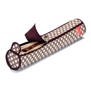 Prym Veske til strikkepinner Polka Dots Beige 9,5x52 cm