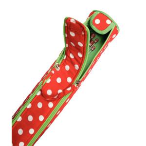 Prym Veske til strikkepinner Polka Dots Rød 9,5x52 cm