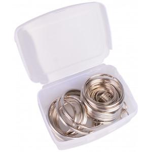Infinity Hearts Nøkkelring i plastboks Tynn Sølvfarget 5-50mm - 50 stk