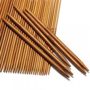 Bambus Strømpepinnesett 13 cm 2-5 mm 11 størrelser