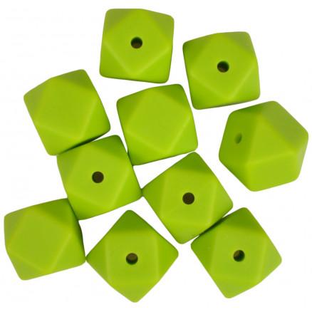 73b85b582 Infinity Hearts Perler Geometriske Silikon Grønn 14mm - 10 stk