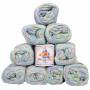 Mayflower Cotton 8/4 Junior Garnpakke Print 1503 Frost - 10 stk