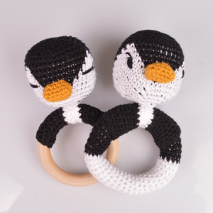 Pingvin Rangler av Rito Krea - Rangle Hekleoppskrift 13cm