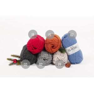 Julegenser til barn KAL 2018 by DROPS Design Big Merino str. 2 - 11/12 år