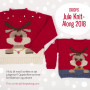 Julegenser til barn KAL 2018 by DROPS Design Alaska og Aplaca Bouclé str. 2 - 12 år