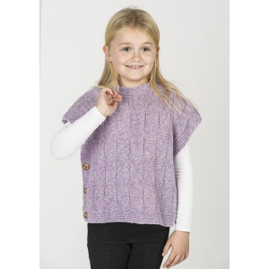 Mayflower Poncho-vest i Melert Look - Poncho Strikkeoppskrift str. 2 - 10 år