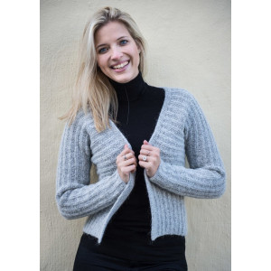 Mayflower Melert Cardigan - Cardigan Strikkeoppskrift str. S - XXXL
