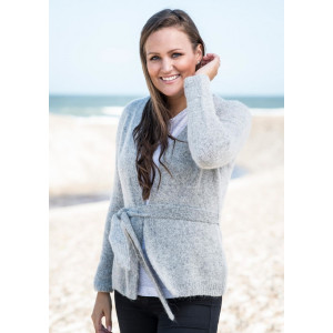 Mayflower Cardigan med Belte - Cardigan Strikkeoppskrift str. S - XXXL