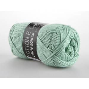 Mayflower Cotton 8/4 Garn Unicolor 1492 Mintgrønn