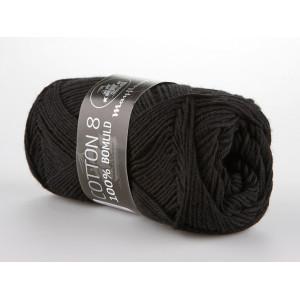 Mayflower Cotton 8/4 Garn Unicolor 1443 Sort / Svart