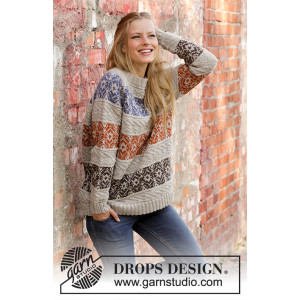 Valdres by DROPS Design - Bluse Strikkeoppskrift str. S - XXXL
