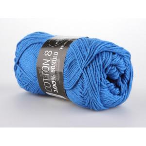 Mayflower Cotton 8/4 Garn Unicolor 1420 Blå