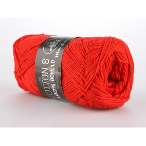 Mayflower Cotton 8/4 Garn Unicolor 1411 Rød